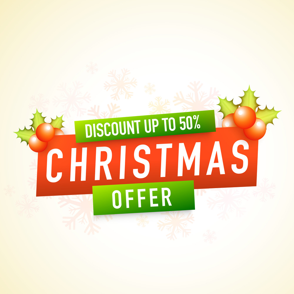 Christmas Offer with 50% discount