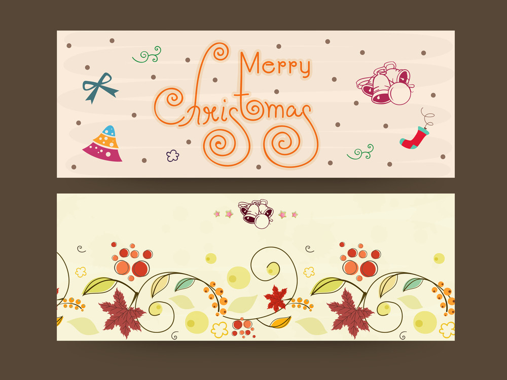 Merry Christmas website header or banner with christmas ornament.