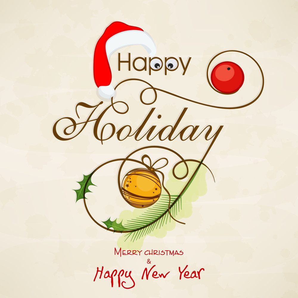 Greeting or invitation card design for Happy Holiday