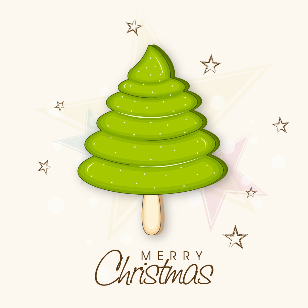 Merry Christmas celebration with Xmas tree design and wishing text on stylish background.