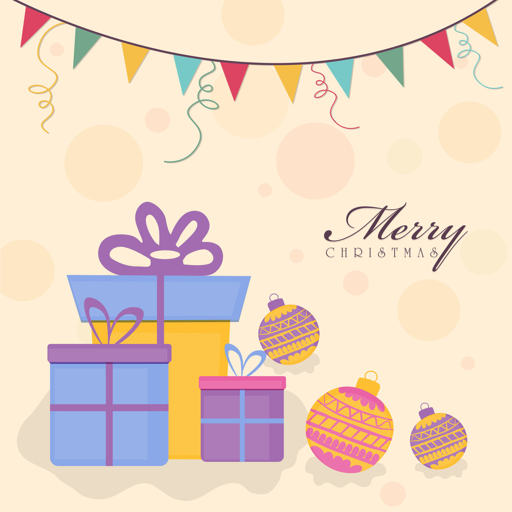 Merry Christmas celebration with gift boxes