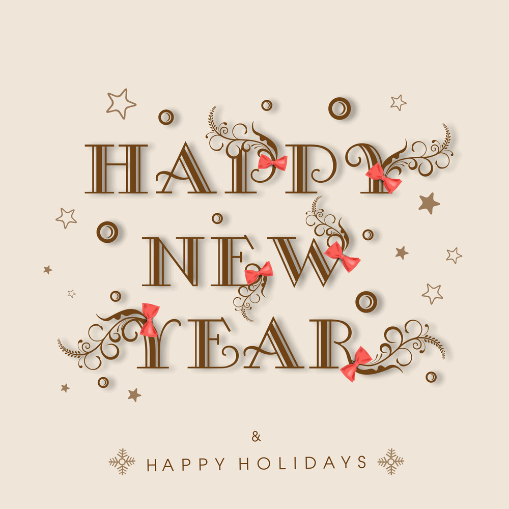 Happy New Year 2015 and Happy Holidays celebration poster