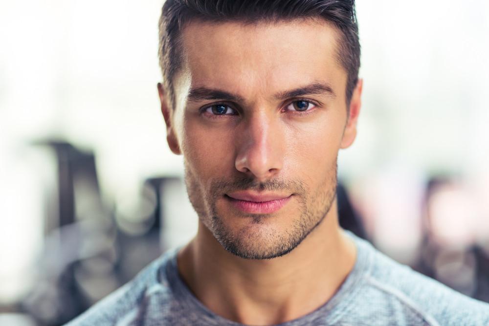 Handsome man at gym