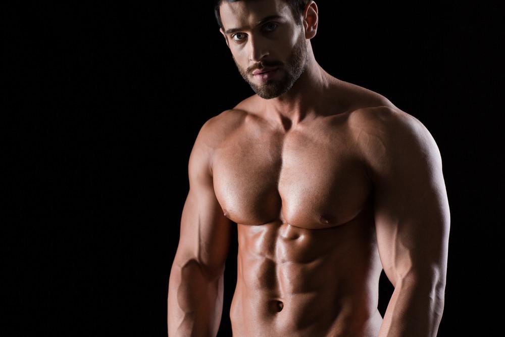 Portrait of a muscular handsome man
