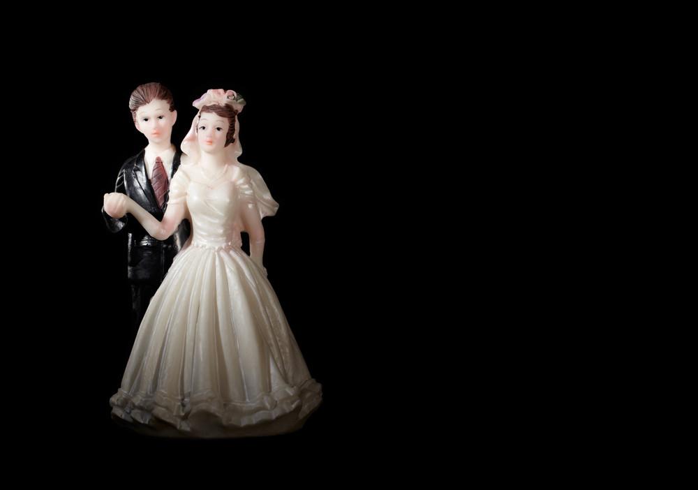Wedding cake figurines.
