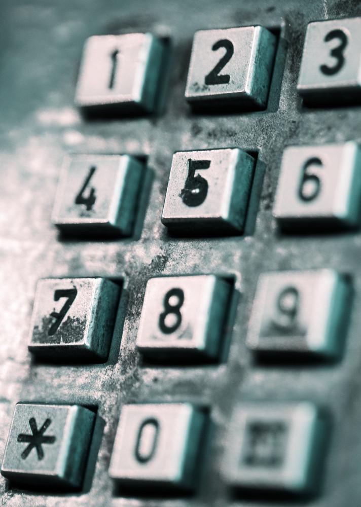 舊式公用電話的按鈕