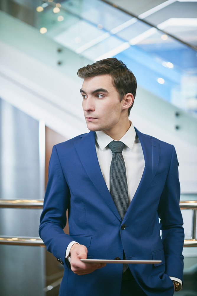 Young Handsome Businessman With Digital Tablet