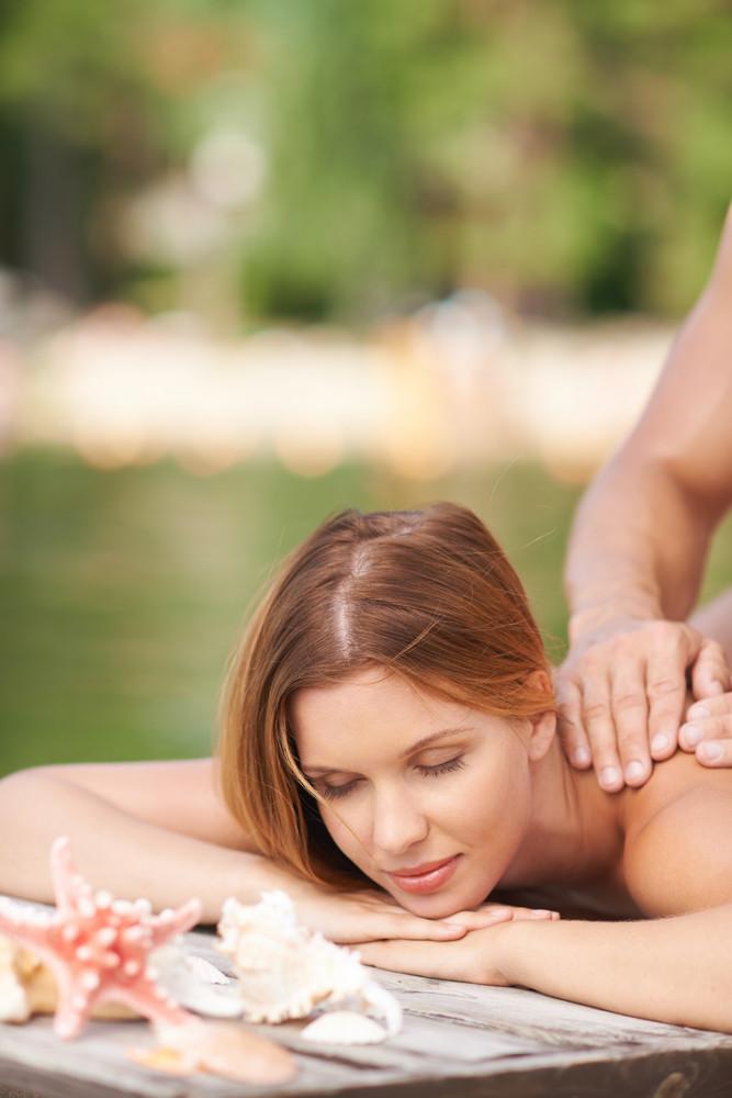 Massage At Summer Resort