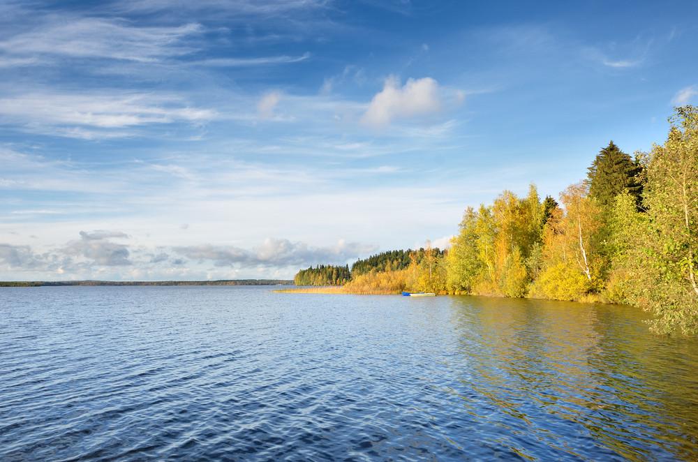 Lake Landscape During Fall Season
