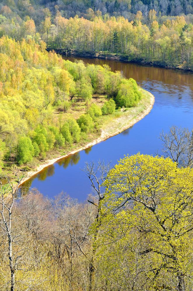 Spring Landscape In Sigulda