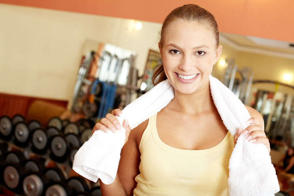 Portrait Of A Young Girl After Exercises