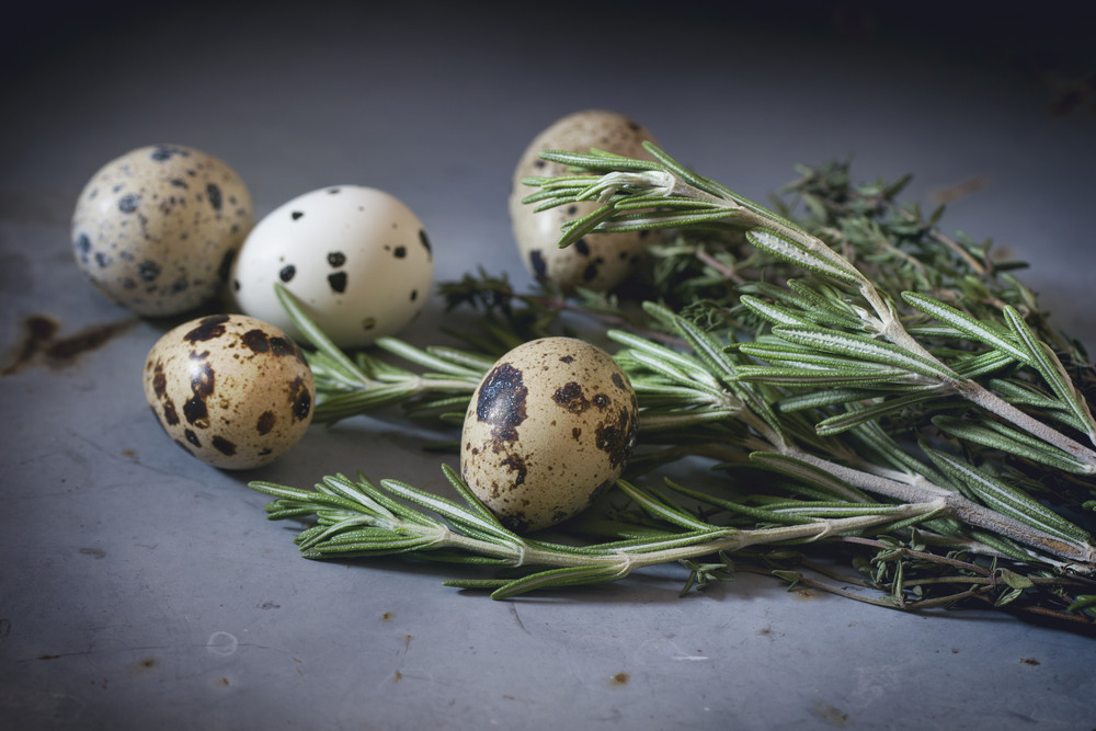 Quail Eggs With Rosemary