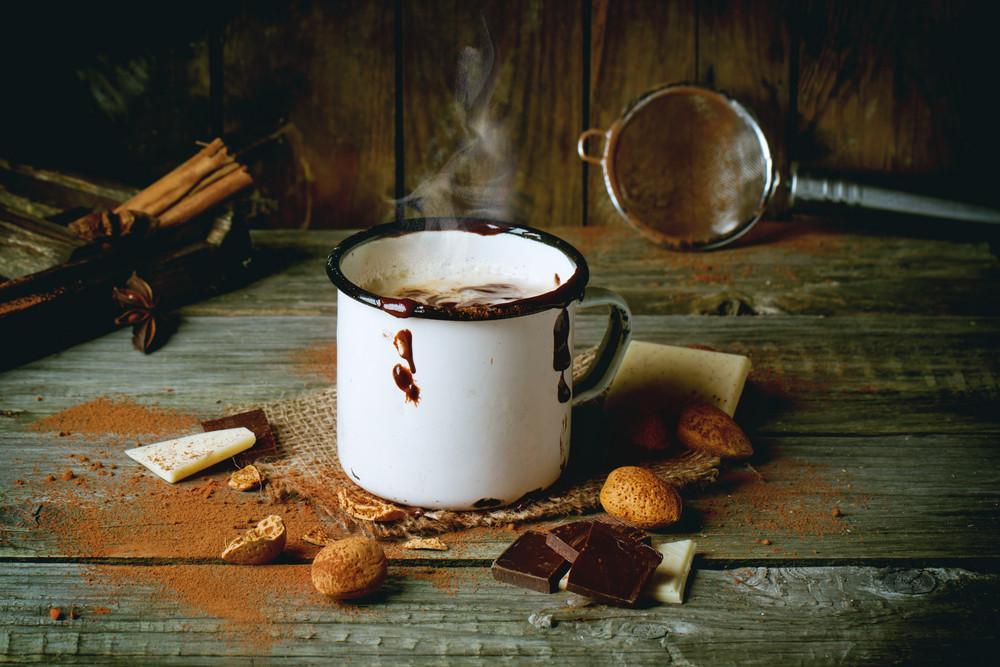 葡萄酒杯熱巧克力