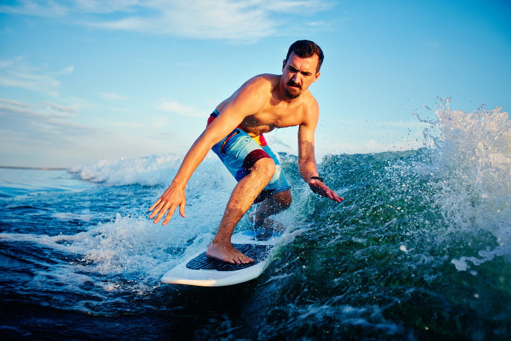 Young Surfboarder On Summer Vacation