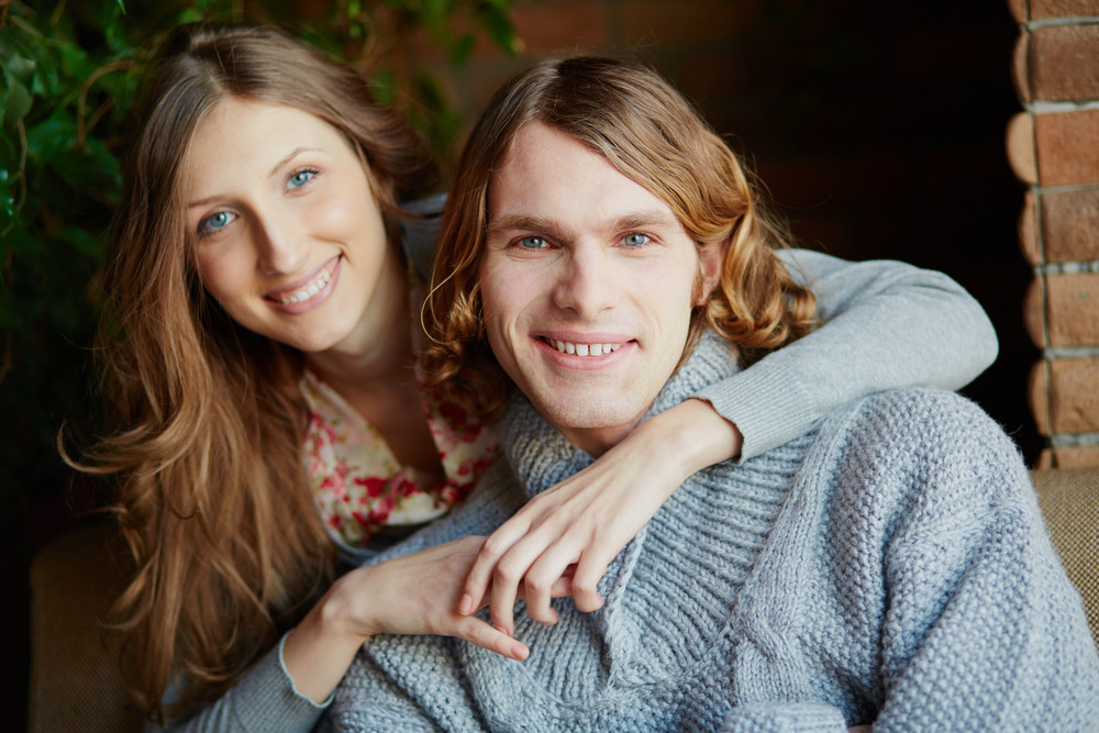 Portrait Of Amorous Young Couple