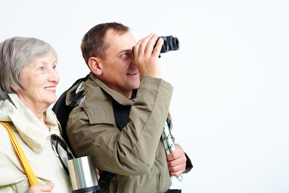 Portrait Of Happy Senior Couple During Trip