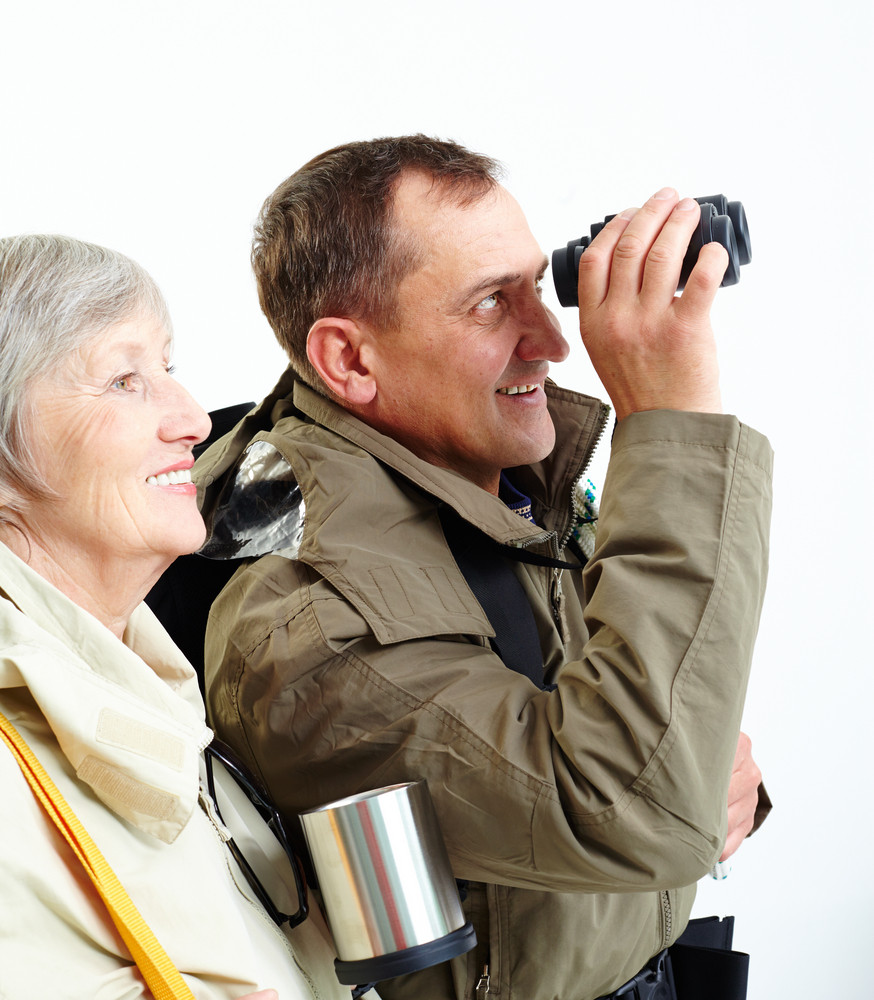 Portrait Of Happy Senior Couple During Trip