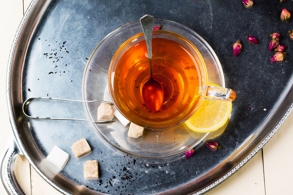 Cup Of Tea With Sugar And Lemon