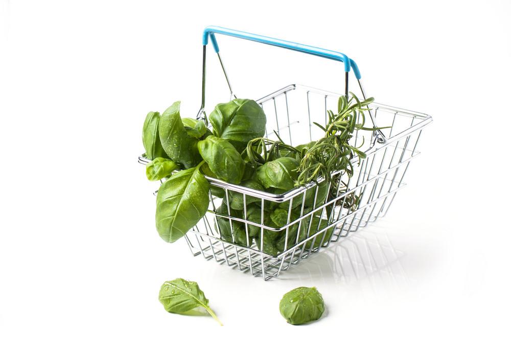 Food Basket Of Herbs
