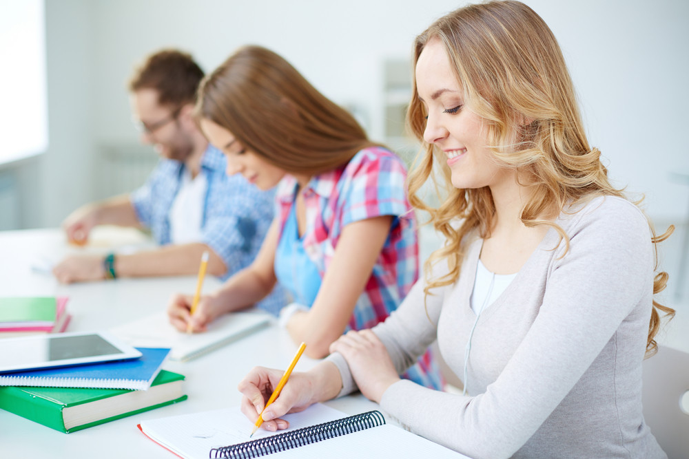 Students Having Written Exam