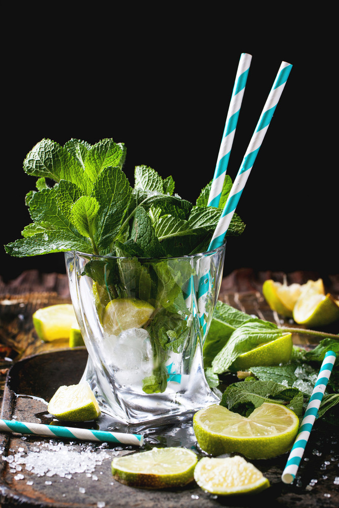 Ingredients For Mojito In Glass