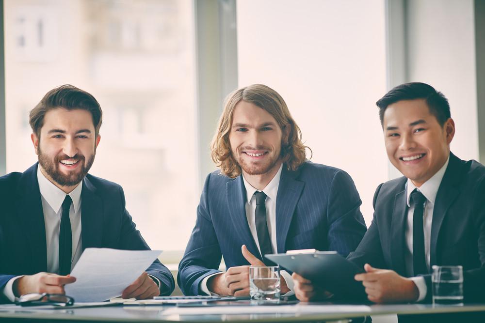 Portrait Of Three Successful Entrepreneurs