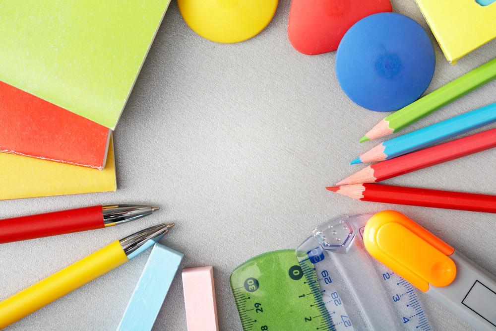 Close-up Of Various Objects Needed In School Education Process