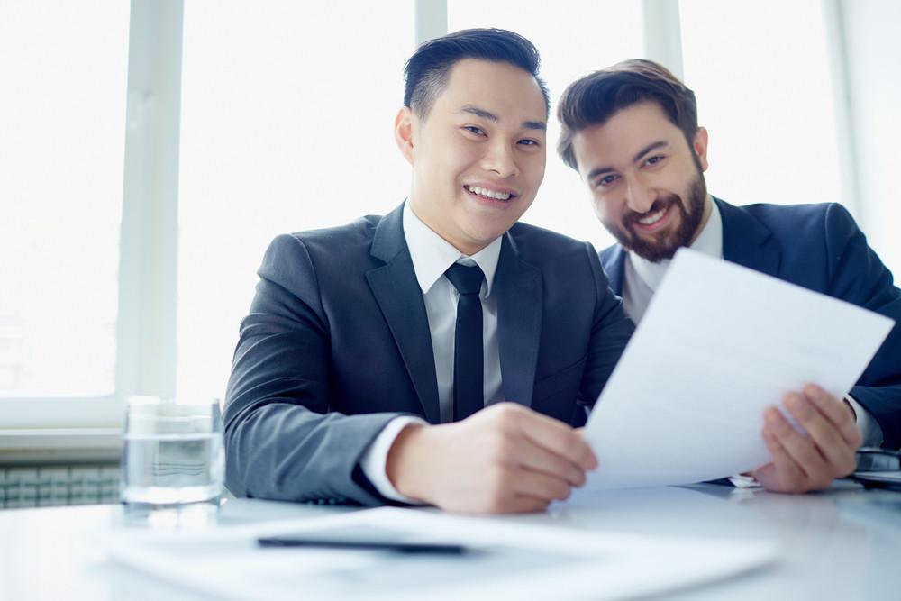 Portrait Of Two Successful Entrepreneurs