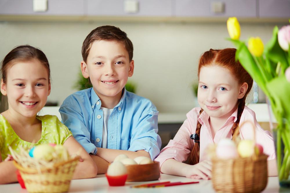 Portrait Of Three Smiling Children