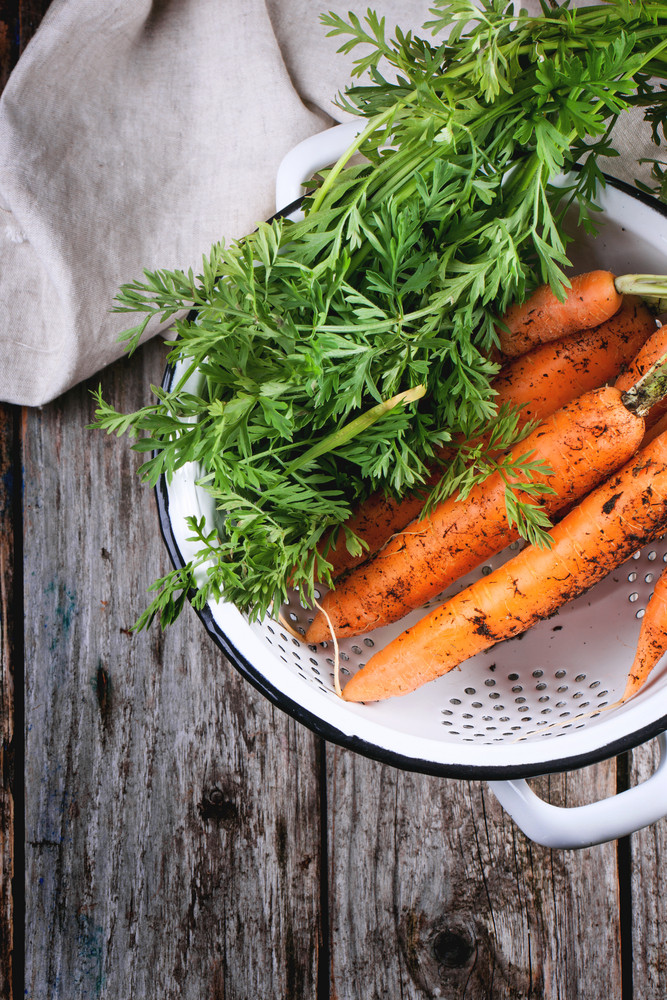 Carrot In Colander