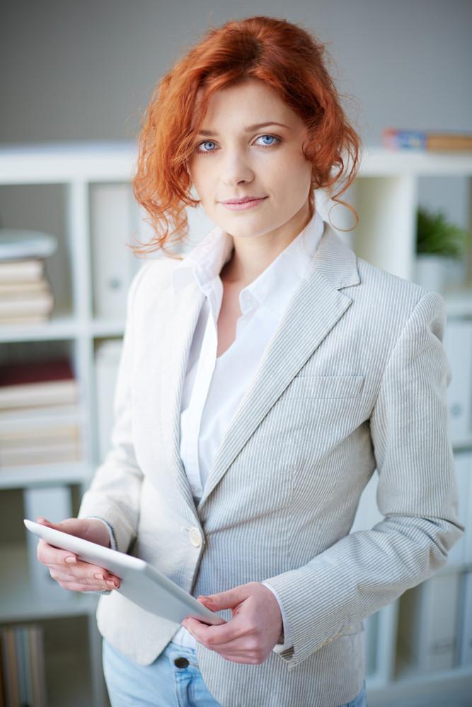 Portrait Of An Elegant Business Woman