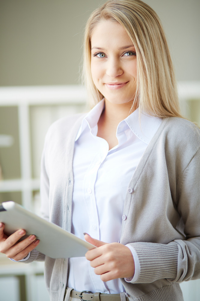 Portrait Of A Business Woman With Digital Tablet