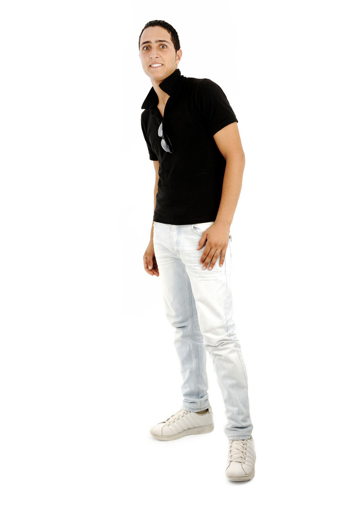 Cute arabic guy isolated