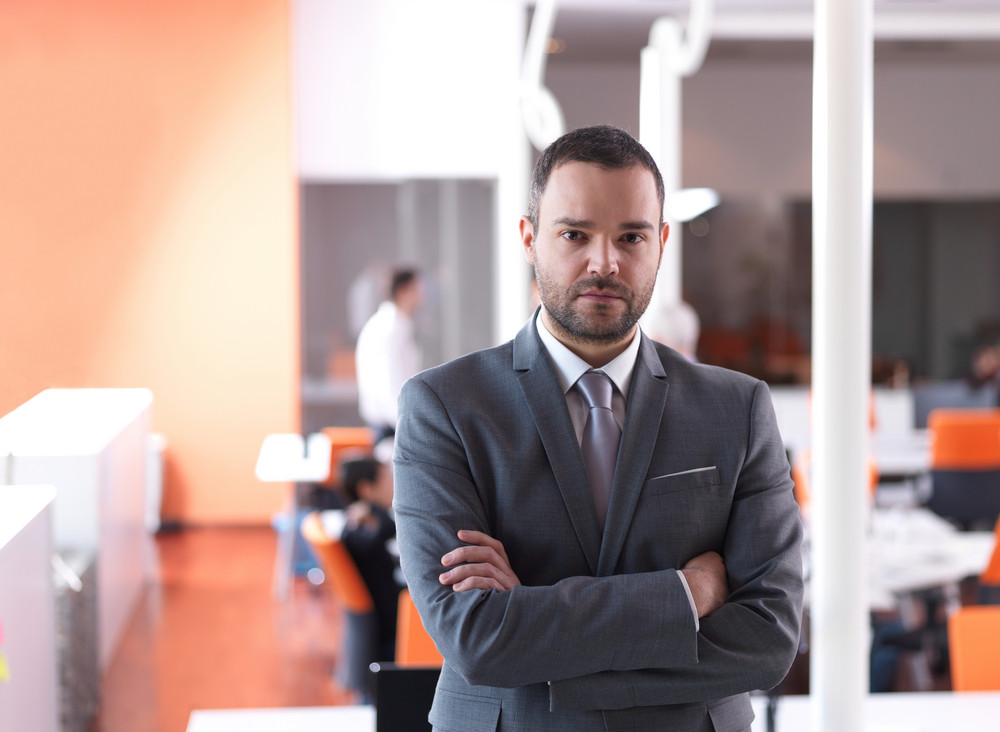Young Business Man Portrait  At Modern Office