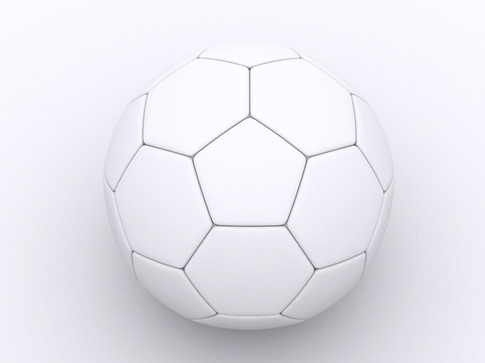 A 3d White Soccer Ball