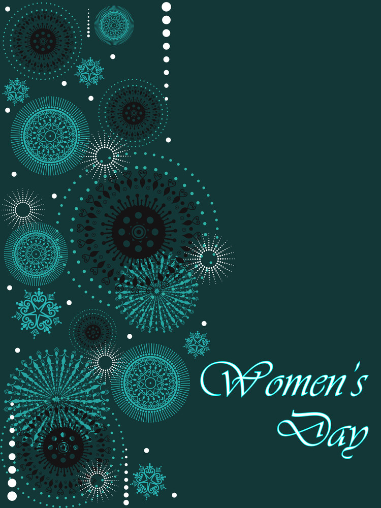 A Beautiful Card Of Women's Day And Space For Your Text.