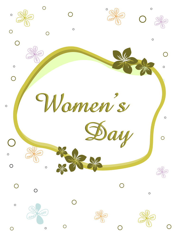 A Beautiful Greeting Card Design For Women's Day.