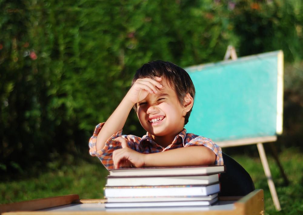 A beautiful preschool boy with nice background