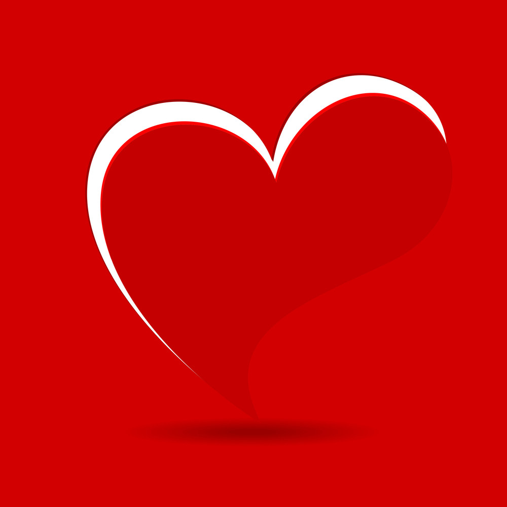 A Beautiful Valentine Card In Red Background.