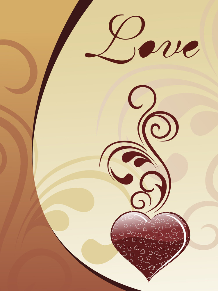 A Choclate Love Card Illustration