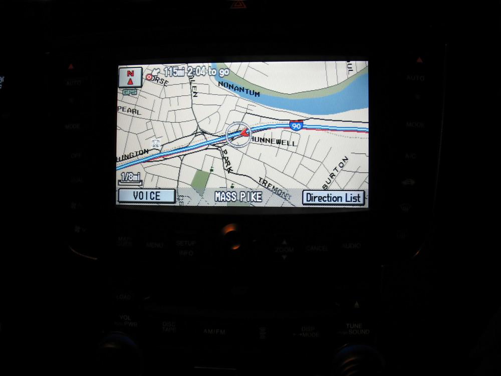 a gps navigation screen