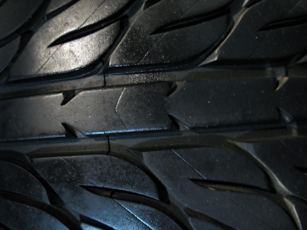 a macro shot of some custom tire tread