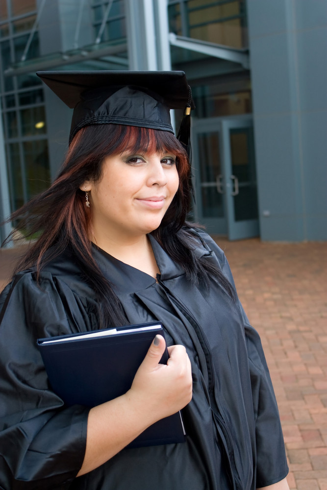A recent graduate thinks about what she will do now that she has completed her education.