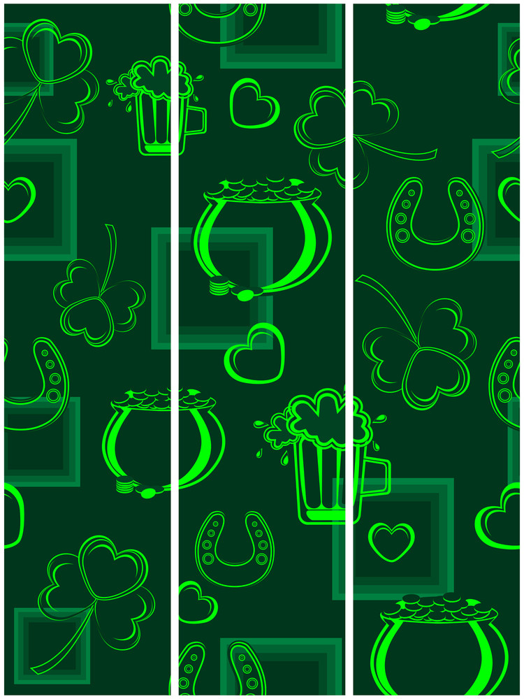 A Seamless Background Or Tags For St. Patrick's Day. Vector
