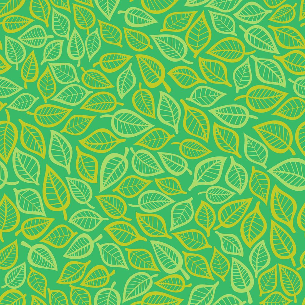 A Seamless Leaf Pattern.