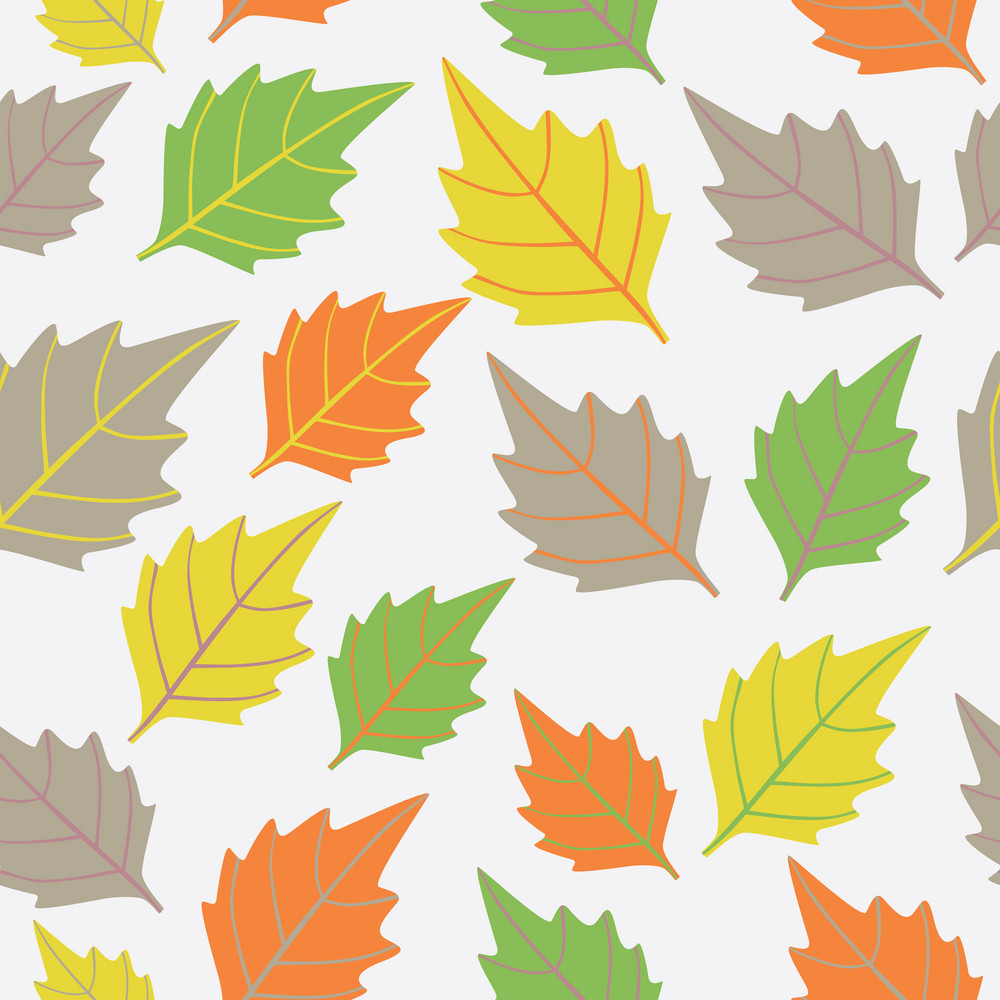A Seamless Pattern With Leaf