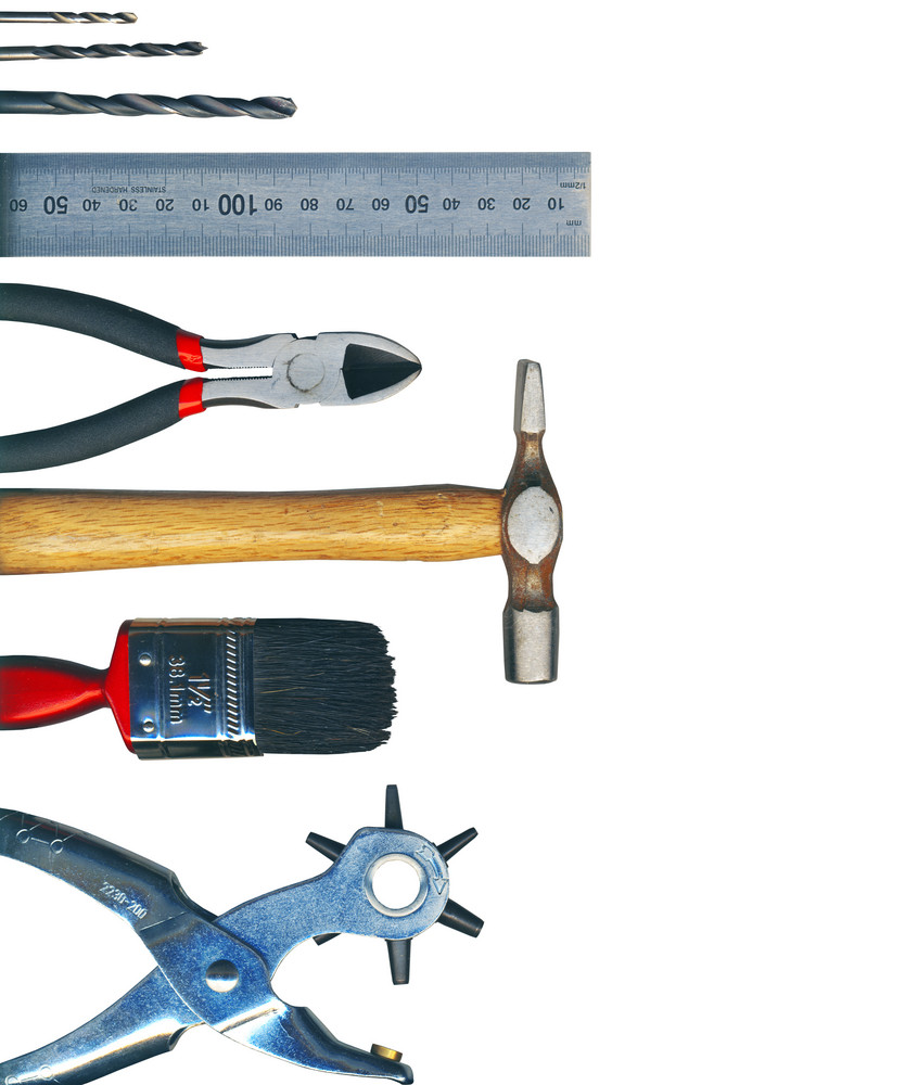 A Set Of Tools - Isolated On White Background