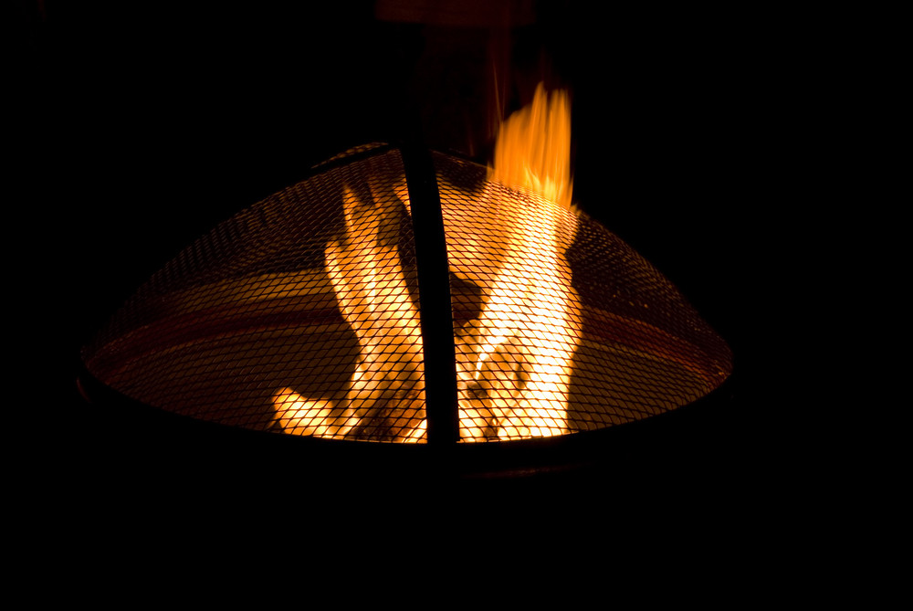 A shot of a blazing hot fire bowl.  Fire tables and bowl have been one of the most popular patio items in the US in recent years.