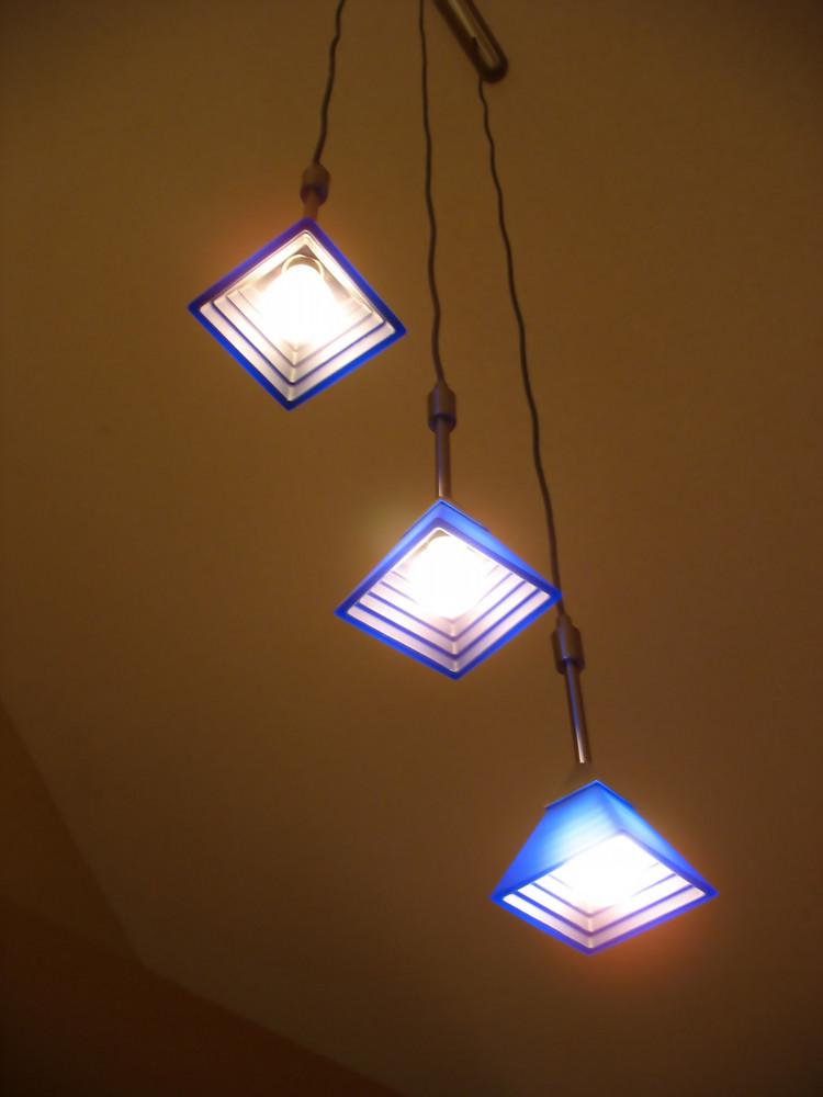 A trio of lights - contemporary interior lighting for the home.