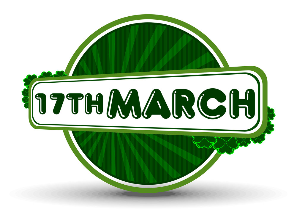 A Unique Batch With 17th March For St. Patrick's Day. Vector